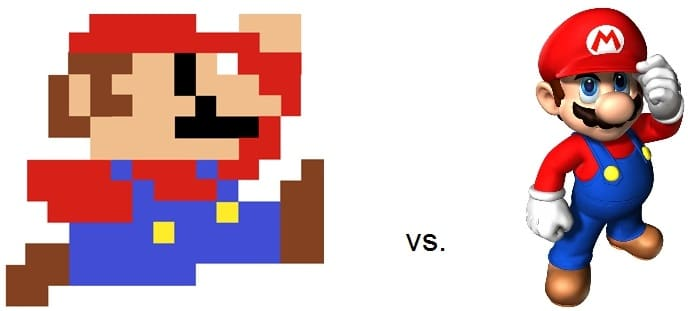 old vs new mario